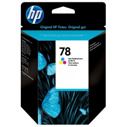 Cartouche jet d'encre HP original C6578D pour HP 78 - trois couleurs