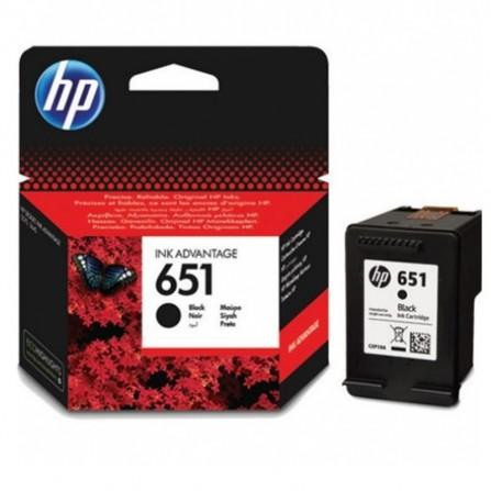 Cartouche jet d'encre HP original C2P10AE pour HP 651 - Noir