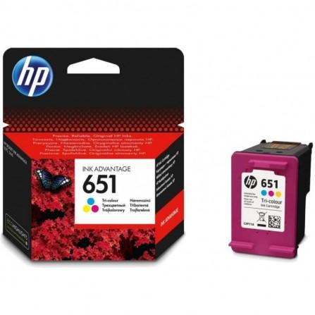 Cartouche jet d'encre HP original C2P11AE pour HP 651 - Couleurs