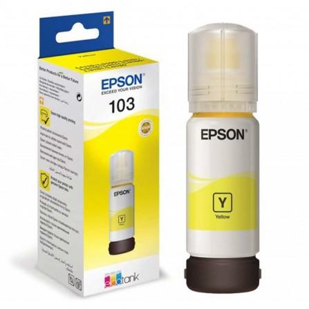 Bouteille D'encre Original EPSON 103 POUR L3151/L1110 -65ml - Yellow