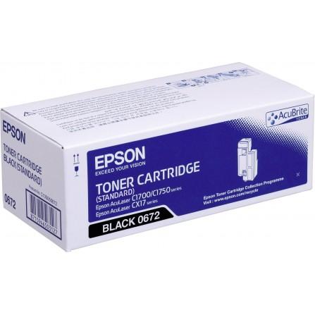 Toner Original EPSON C13S050672 pour AL-C1700/C1750/CX17 - Noir