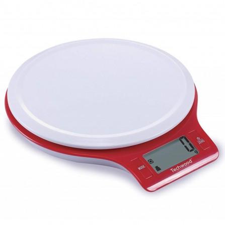 Balance de cuisine digitale Techwood 5kg - Rouge ( TPA-525)
