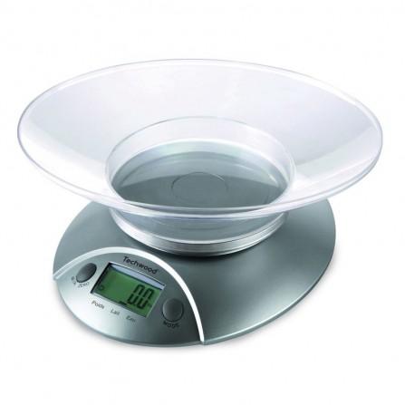 Balance de cuisine électronique Techwood 5kg - Gris (TPA-560)