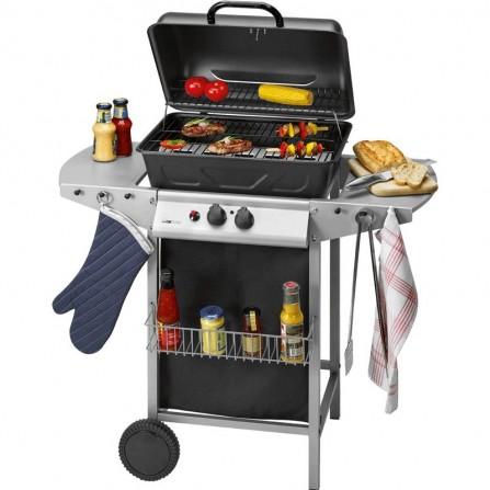 Barbecue à gaz et grill CLATRONIC 5500 Watt - Noir (GG3590)