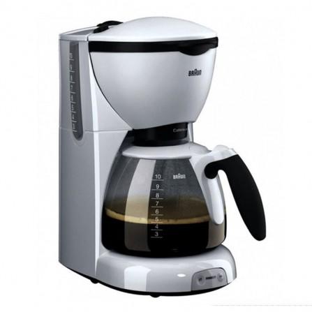 Cafetière BRAUN Pure Aroma Deluxe - 10 Tasses - 1100 Watt - Blanc (KF520/1)