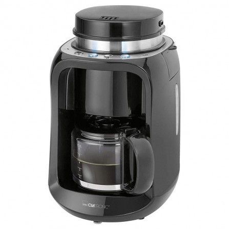 Cafetière 6 tasses Clatronic avec moulin 600 Watt 0,6L - Noir (KA3701)