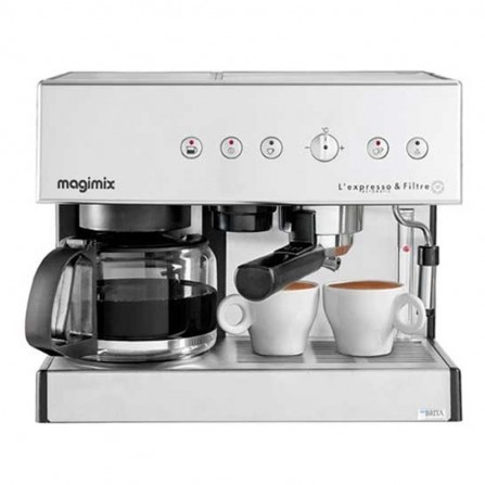 Machine à café expresso et filtre 19 bars Magimix 2010 Watt 1,4L- Silver (11423)