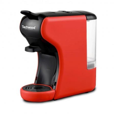 Machine à café expresso 2en1 Techwood 1450 Watt 0,6L - Rouge (TCA-195N)