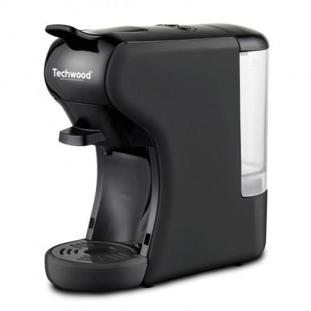 Machine à café expresso 2en1 Techwood 1450 Watt 0,6L - Noir (TCA-196N)