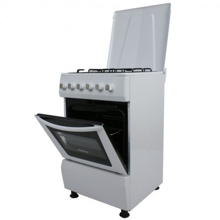 Cuisinière à gaz Fiesta 4 feux 50cm - Blanc (FEG-50W)