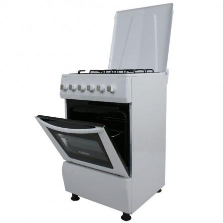 Cuisinière à gaz Fiesta 4 feux 60cm - Blanc (FFO-60W)