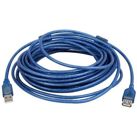Rallonge USB 2.0 10M BLeu Transparent (R-USB-10M-B)