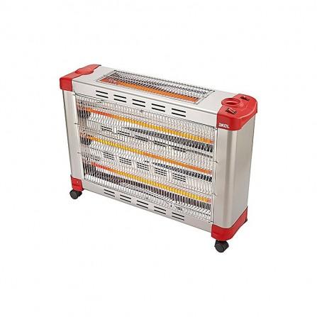 Chauffage électrique Akel 2900 Watt - Gris et Rouge (AS-1210)