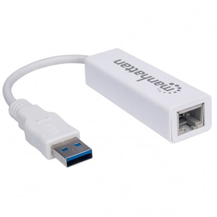 Adaptateur Manhattan USB 3.0 SuperSpeed vers Gigabit RJ45 (506847)