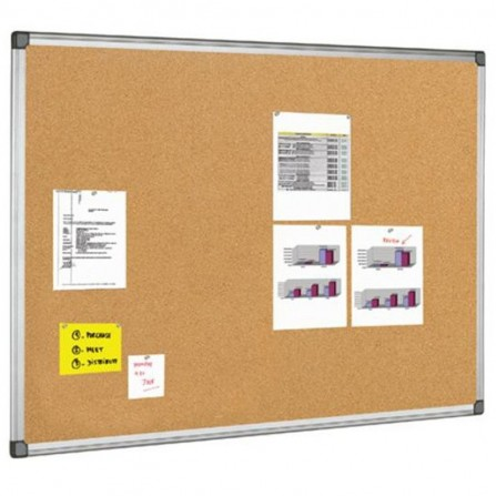 """Tableau D'affichage Liege 2X3 Cadre Aluminium 120X180 """"TCX71218"""""""