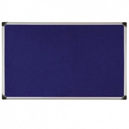 "Tableau D'affichage Tissu Bleu 2X3 Cadre Aluminium 90X60 ""TTA96"""