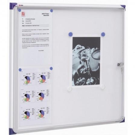 """Tableau d'affichage 2X3 Fond Magnétique 73X68 (6 A4) """"GS46A4"""""""