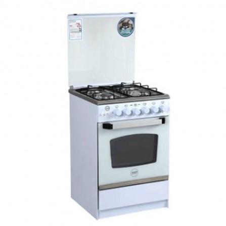 Cuisinière à Gaz AZUR 4 feux 55cm - Blanc (AZ5555W)
