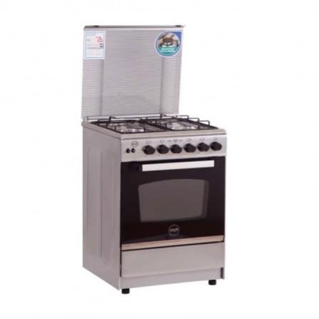 Cuisinière à Gaz AZUR 4 feux 55cm - Silver  (AZ5555S)