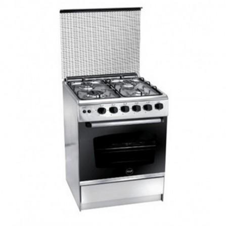 Cuisinière à Gaz AZUR 4 feux 55cm - Inox ( AZ5555X)