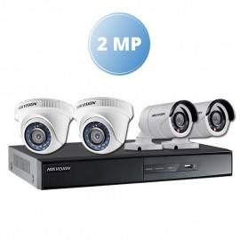 Pack Vidéo Surveillance Hikvision 2 MP DVR 8 CHANNELS+ 2 Caméra Interne 2MP + 2 Camera Externe 2MP