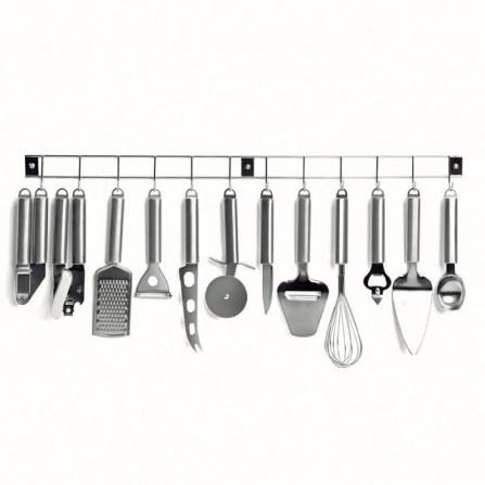 Barre 12 ustensiles de cuisine LIVOO - Inox (MEN110)