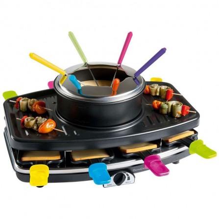 Appareil à Raclette 3en1 LIVOO 1100 Watt 8 personnes - Noir (DOC107)