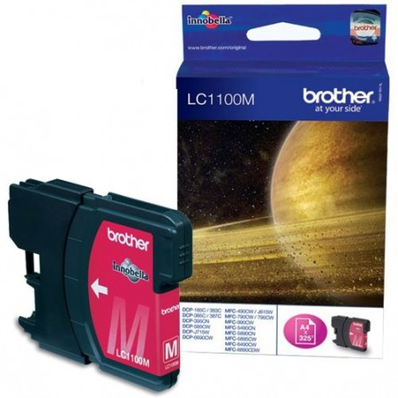 Cartouche Jet d'encre Originale Brother LC1100M pour Brother DCP385C , 6890CW  - Magenta (325 Pages)