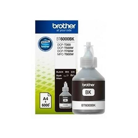 Bouteille D'encre Originale Brother BT6000BK pour Brother DCP-T300 - Noir (6000 Pages)
