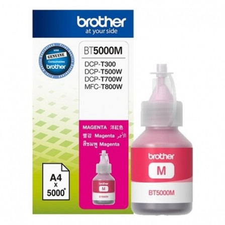 Bouteille D'encre Originale Brother BT5000M pour Brother DCP-T300 - Magenta (5000 Pages)
