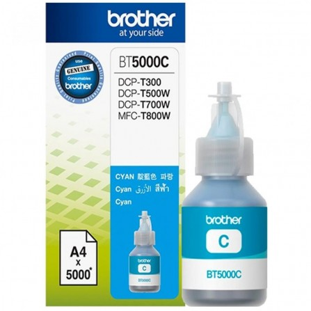 Bouteille D'encre Originale Brother BT5000C pour Brother DCP-T300 - Cyan (5000 Pages)