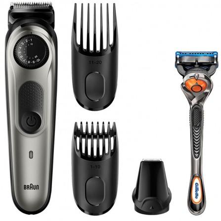 Tondeuse Cheveux et Barbe Braun Avec Tondeuse de Précision BT5060- Gris (BRTD0514)