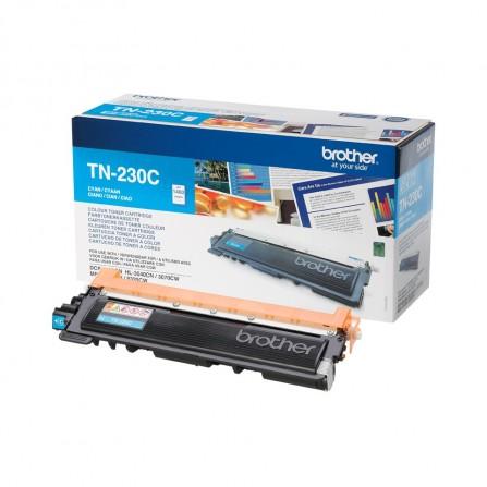 Toner Original Brother LaserJet TN230BK pour Brother HL3040CN , MFC9120CN - Cyan (1400 Pages)
