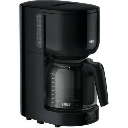 Cafetière BRAUN PurAroma 3 - 10 Tasses - 1000 Watt - Noir (KF3120BK )