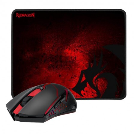 Pack gaming souris sans fil & tapis Redragon M601 (M601-WL-BA)