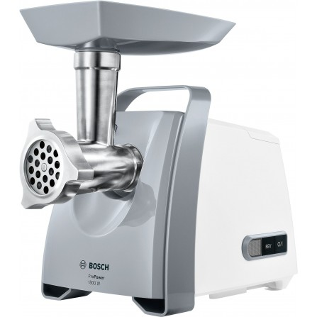 Hachoir à viande BOSCH ProPower 1800 Watt - Gris&Blanc (MFW66020)