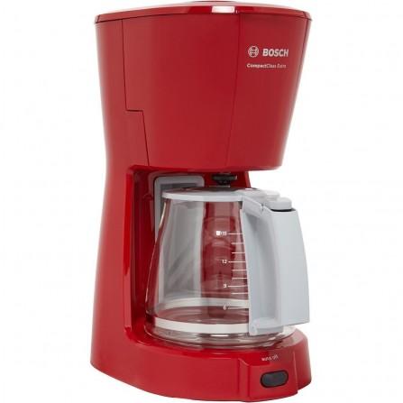 Cafetière Filtre BOSCH Compact Class Extra 15 Tasses - 1100 Watt - 1.25L - Rouge (TKA3A034)