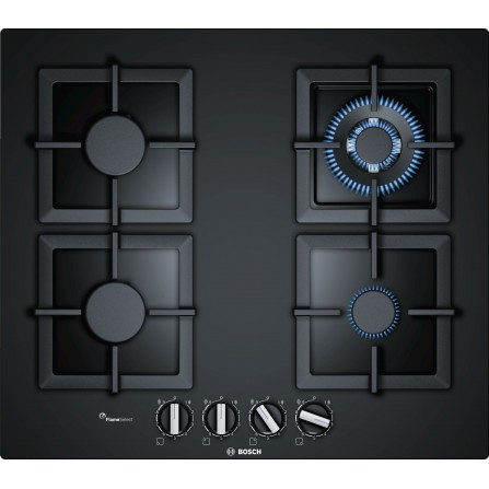 Plaque de cuisson Gaz BOSCH  4 Feux 60 cm Noir (PPH6A6B20)
