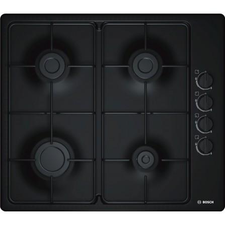 Plaque de cuisson Gaz BOSCH  4 Feux 60 cm Noir (PBP6C6B80Q)
