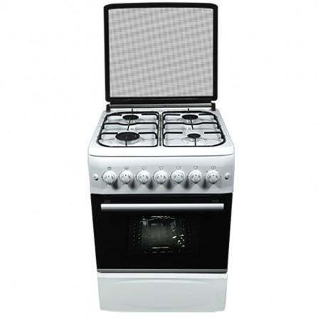 Cuisinière à gaz avec tourne broche Orient 4 feux 60cm - Blanc (OC-60-60TB)