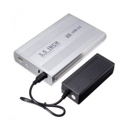 "Boitier Externe pour disque dur 3.5"" HDD - Silver (RB-4330-SILVER)"