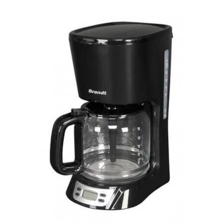 Cafetière à Filtre 18 tasses Brandt 1000 Watt 1,8L - Noir (CAF1318E)