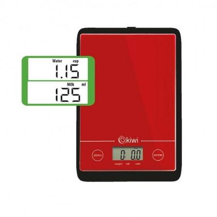 Balance de cuisine numérique Kiwi 5Kg  - Rouge  (KKS-1123)