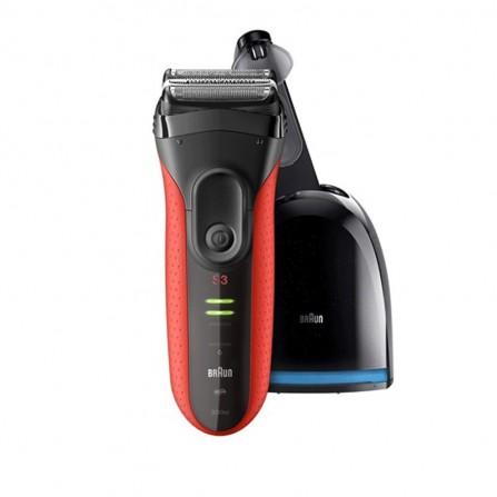 Rasoir électrique BRAUN Series 3 ProSkin 3050CC- Noir et Rouge (BRRA0449)
