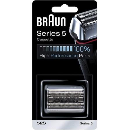 Pièce de Rechange Braun Argentée ( pour Rasoir Compatible avec les Rasoirs Series 5 (52S)