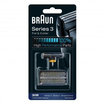 Pièce De Rechange Braun Noire Pour Rasoir - Compatible avec les rasoirs Series 3 (30B)