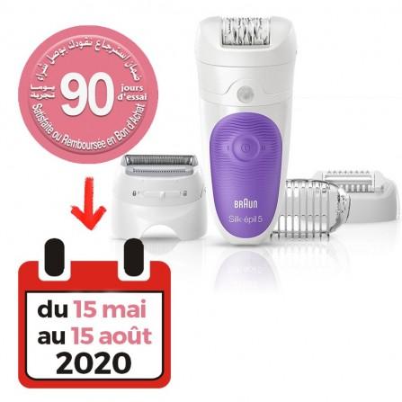 Épilateur électrique Braun Silk-épil 5 LEGS & BODY SE5-541- Blanc et Violet (BREP0440)
