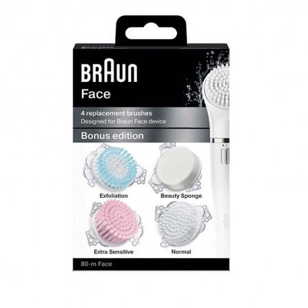 Brosse BRAUN 4 brosses pour visage - ( SE80-M )