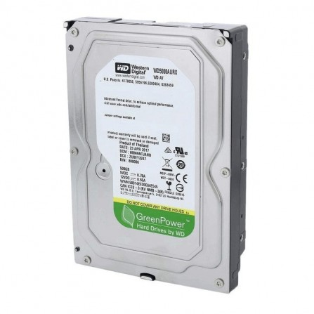 "Disque Dur Interne Western Digital 500 G 3.5"" Reconditionné (WD5000AURX)"