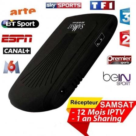 Samsat HD 90-90 Mini + clé Wifi + 12 mois Abonnement Sharing + 15 mois IPTV